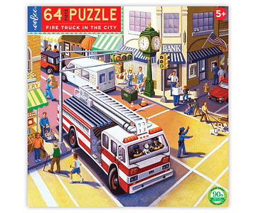 Puzzle Camión de bombero 64 piezas