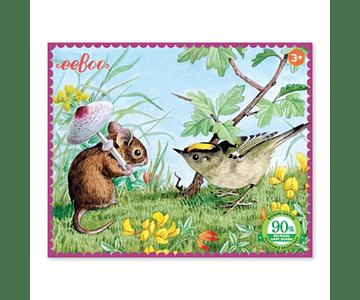 Puzzle miniatura ratón y pájaro 36 piezas