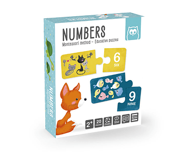 Puzzle dúo números montessori EK