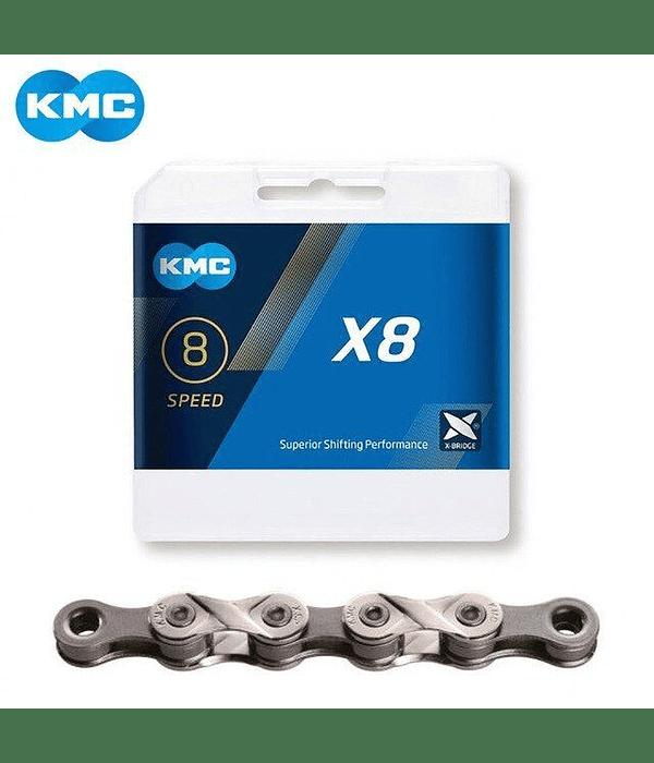 CADENA KMC X8 8V 116 ESLABONES + MISSINGLINK