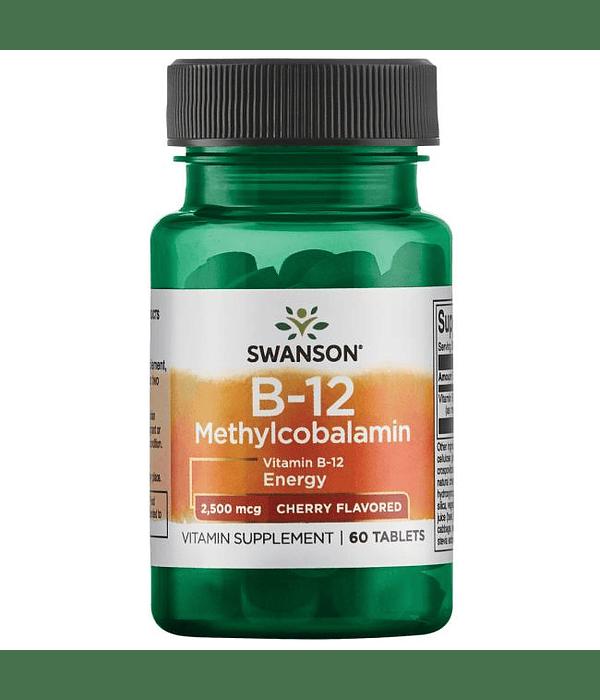 SWANSON ULT B12 METHYLCOB 2500 MCG 60 CAPSULAS