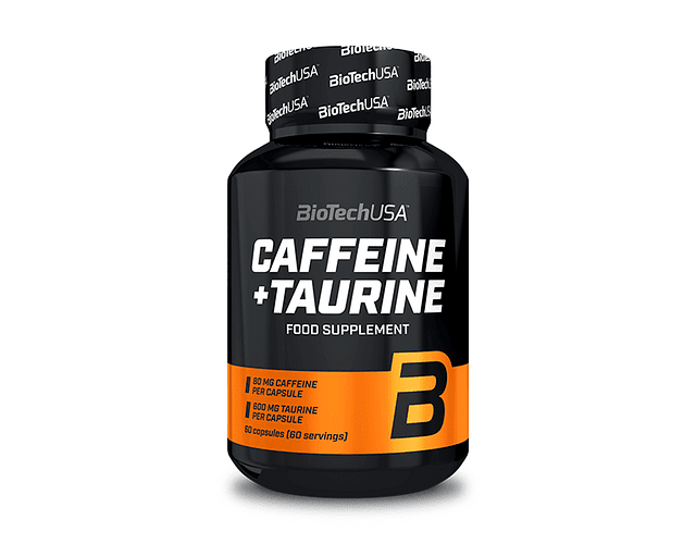 CAFFEINE & TAURINE BIOTECH POWER FORCE 60 CAPSULAS