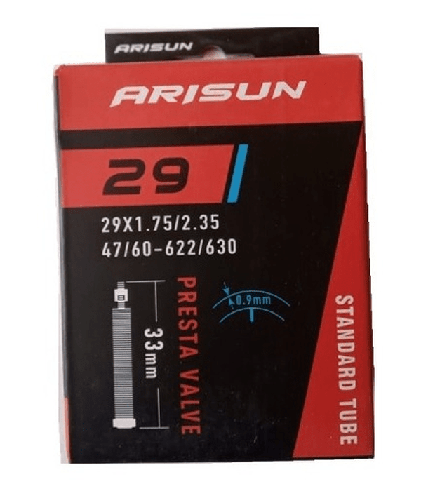 CAMARA ARISUN 29 X 1.75 / 2.35 VALVULA FRANCESA 33 MM