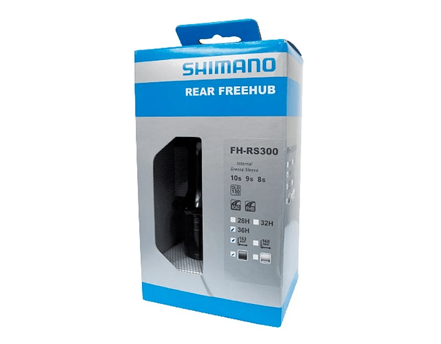 MAZA SHIMANO FH-RS300 8/9/10V TRASERA 36H NEGRO