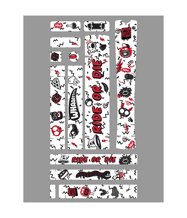 PROLINE BIKE GUARD GRAFFITI (TRANSPARENTE)