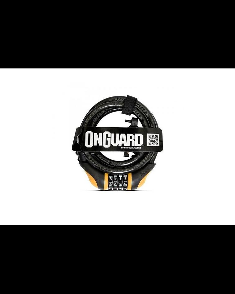 CANDADO ONGUARD ESPIRAL NEONS 180 X 8 CON CLAVE