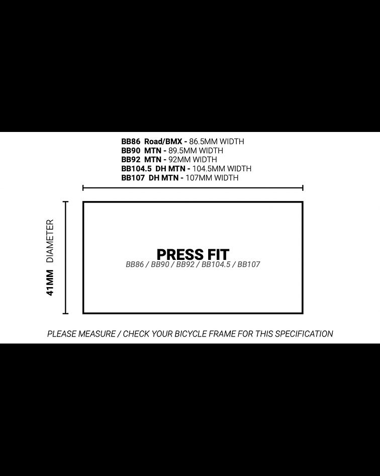 MOTOR PRAXIS PRESSFIT M30-BB86/BB90/BB92/DH 104.5/DH 107