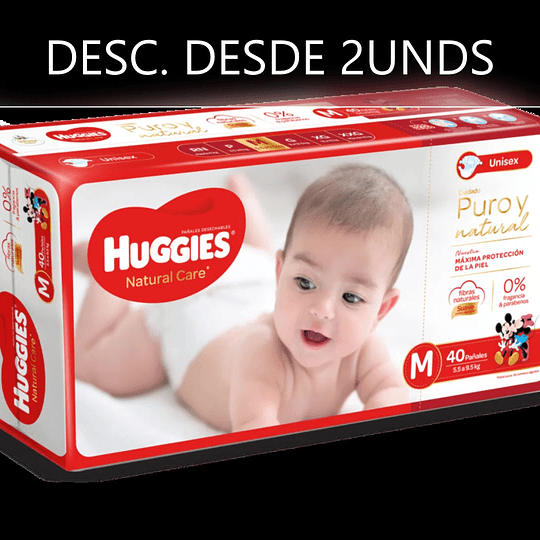 Huggies Natural Care Unisex M 40 UNDS