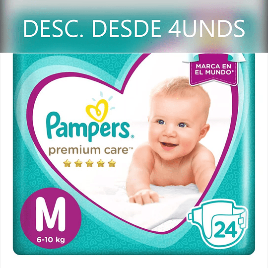 Pampers Premium Care Talla M 24 UNDS