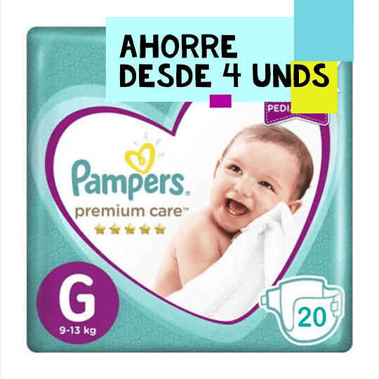 Pampers Premium Care Talla G 20 UNDS