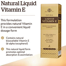 Vitamina E Gotas 2Oz (59 ml)