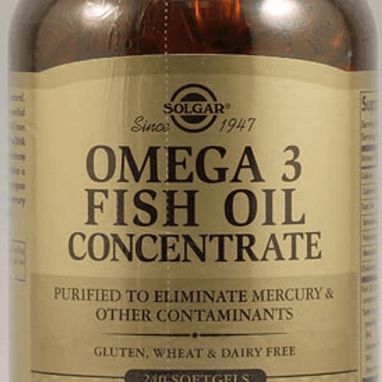 Omega 3 Fish Oil Concetrate 240 CAPS SOFT