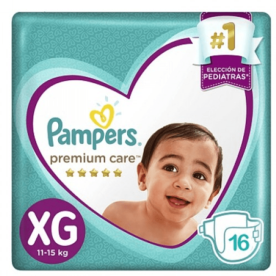 Pampers Premium Care Talla XG 16 UNDS