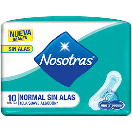 Nosotras Normal S/Alas tela suave 10t Normal