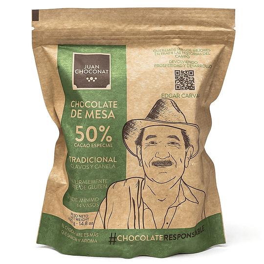 Chocolate 50% Cacao Clavos y Canela 420 grs