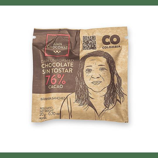 Chocolate 76% Cacao Sin tostar 20 grs