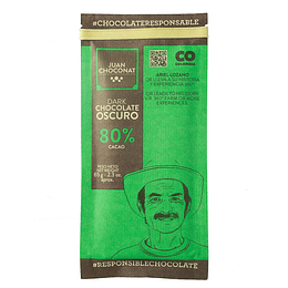 Chocolate 80% Cacao 65 grs