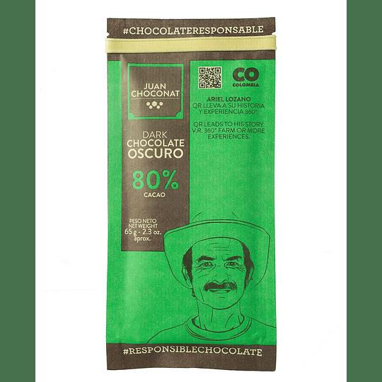 Chocolate 80% Cacao 65 grs
