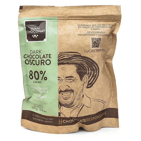 Chocolate 80% Cacao 420 grs