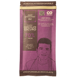 Chocolate 70% Cacao 65 grs