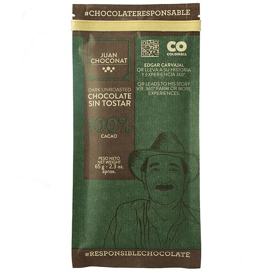 Chocolate 100% Cacao Sin Tostar 65 grs
