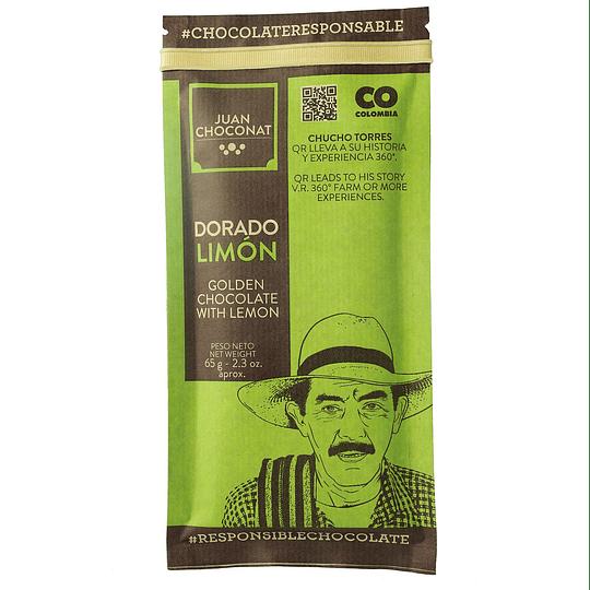 Chocolate Dorado Limón 65 grs