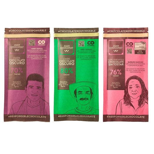 Chocolates Combo Oscuros 3 x 65 grs