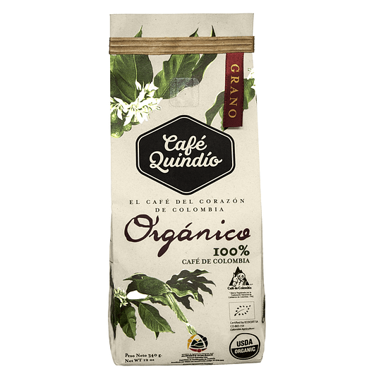 Café Orgánico 340 grs (grano)