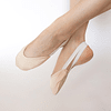 Puntilla de tela para gimnasia ritmica, color beige