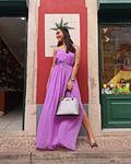 Vestido comprido com tachas Abella - Guess