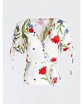 Blusa cruzada com Print - Guess