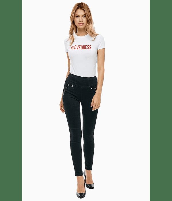 Calças cintura com botões - Guess