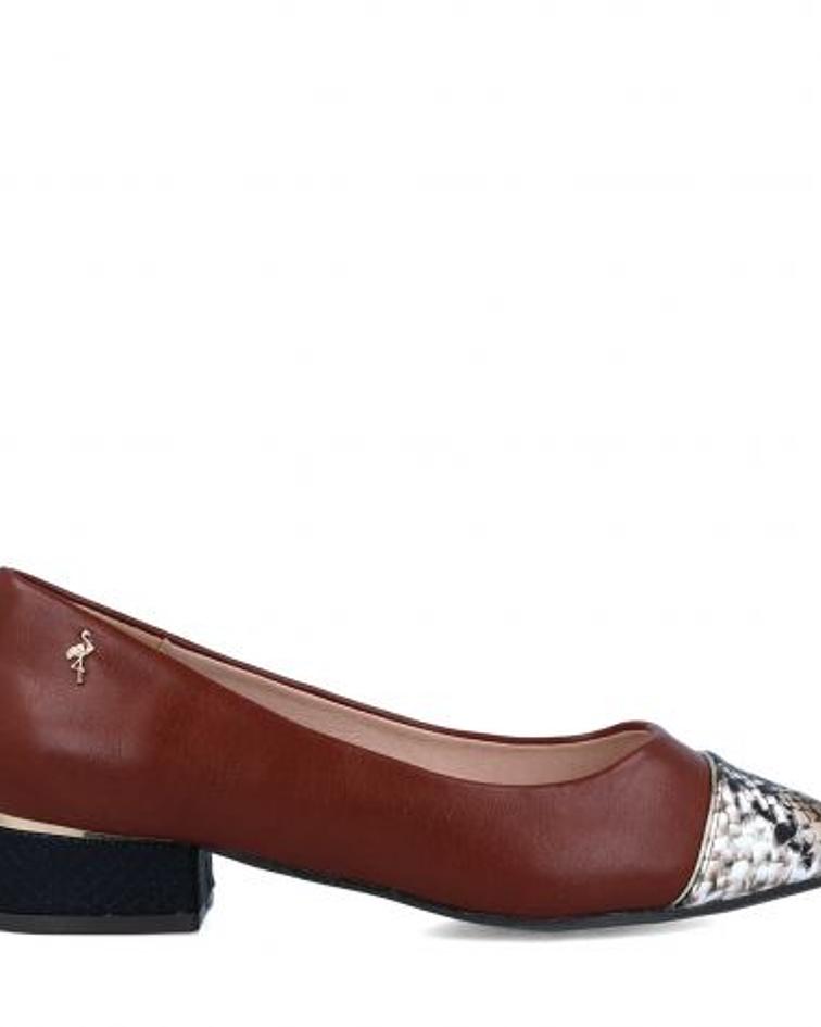 Sapato biqueira Pitton Castanho - Menbur
