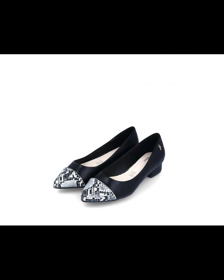 Sapato biqueira Pitton Preto - Menbur