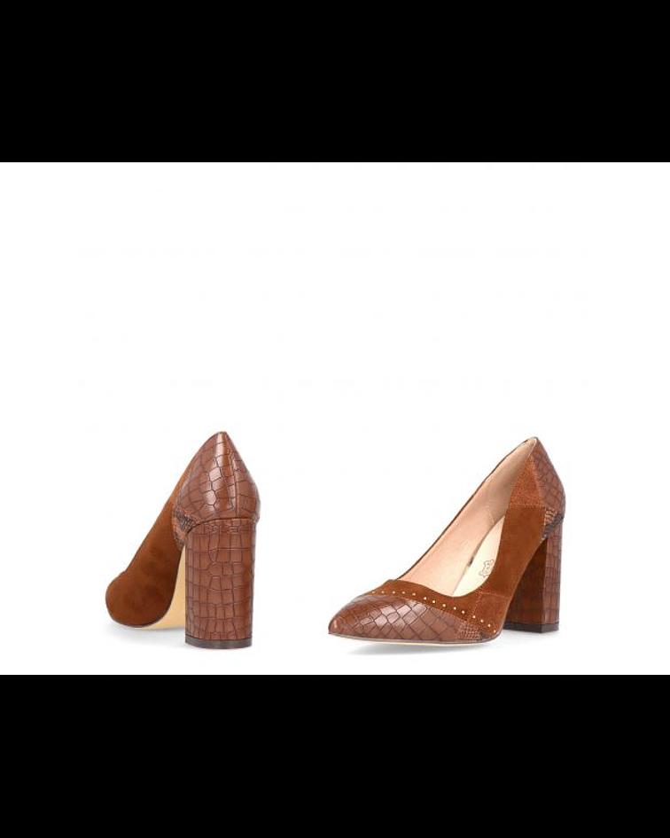 Sapato em Camurça e Croco - Menbur
