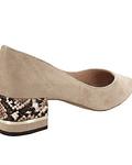 Sapato em Suede Salto Block - Menbur