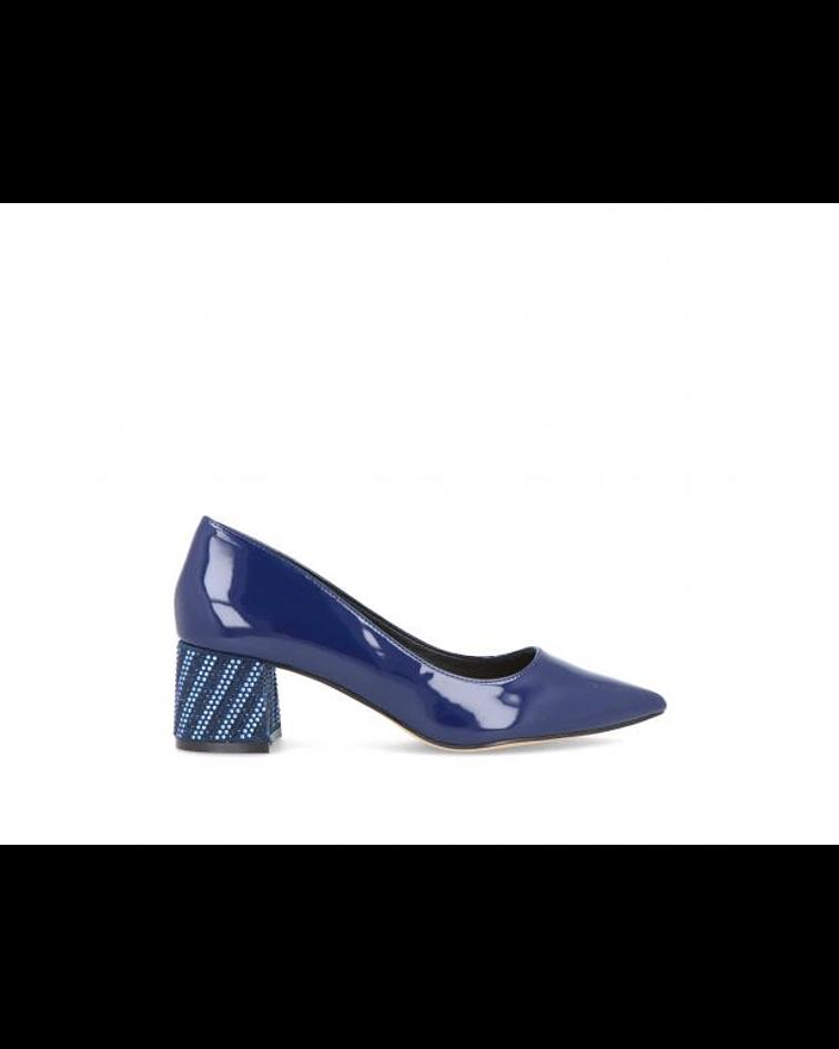 Sapato em Verniz Salto com Strass - Menbur