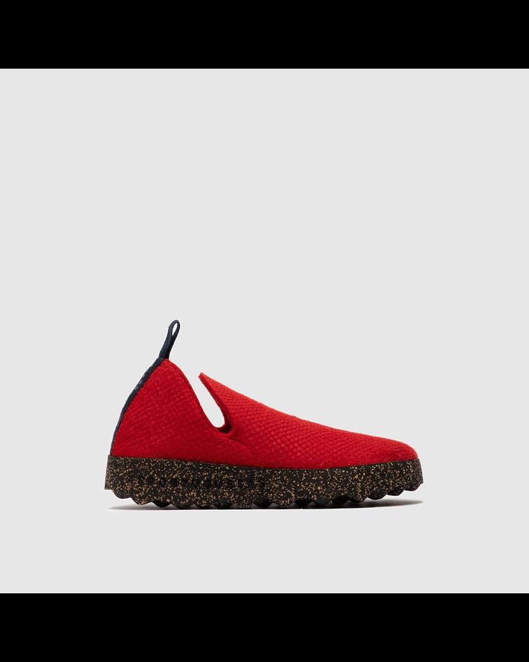 Sapato City Vermelho Escamas - AsPortuguesas