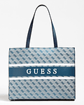 Mala de Ombro Logo Monique Azul - Guess