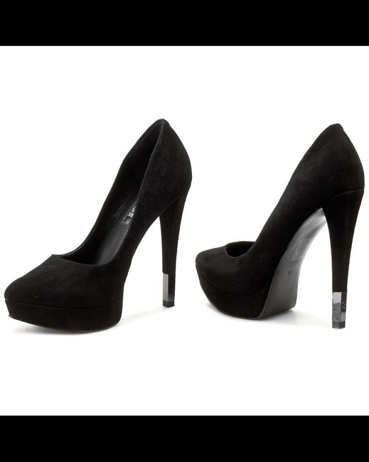 Sapato Compensado em Suede Laria - Guess
