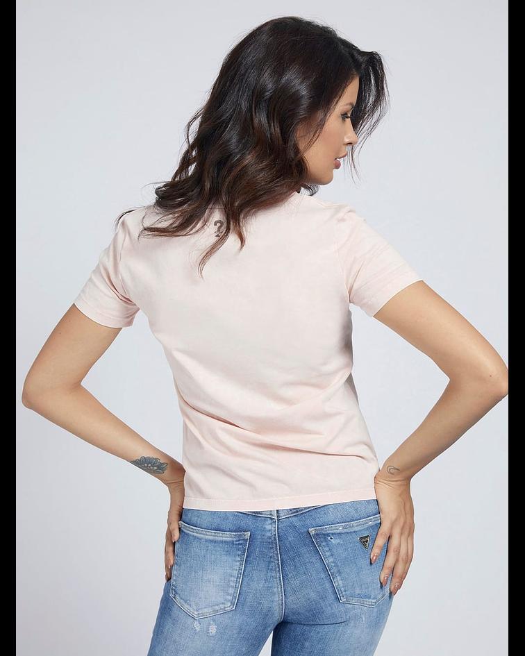 T-shirt com Impressão Paula - Guess