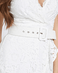 Vestido Midi em Renda Randa - Guess