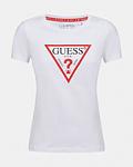 T-shirt Triângulo Algodão Orgânico Branco - Guess