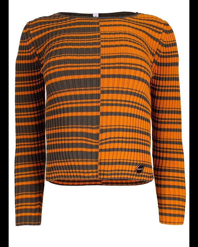 Camisola em Malha Riscas Bicolor - SAHOCO
