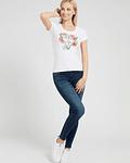 T-shirt Guess Triângulo Floral Branco - Guess