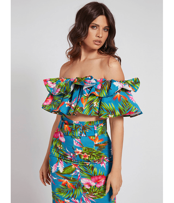 Crop Top Floral Pippa - Guess