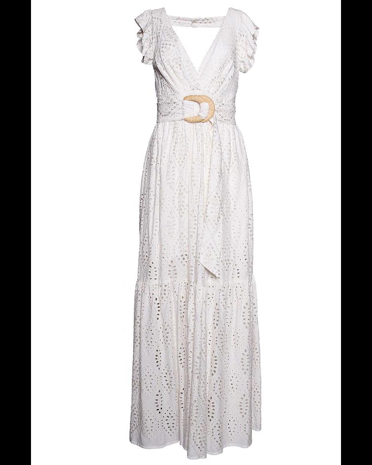 Vestido Comprido Bordado - SAHOCO