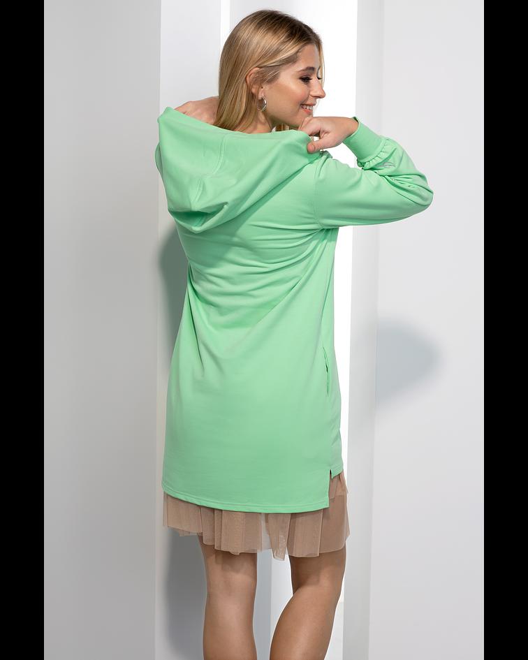 Vestido Sweat com Folhos - SAHOCO