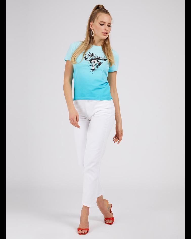 T-shirt Triângulo Palmeiras Azul - Guess