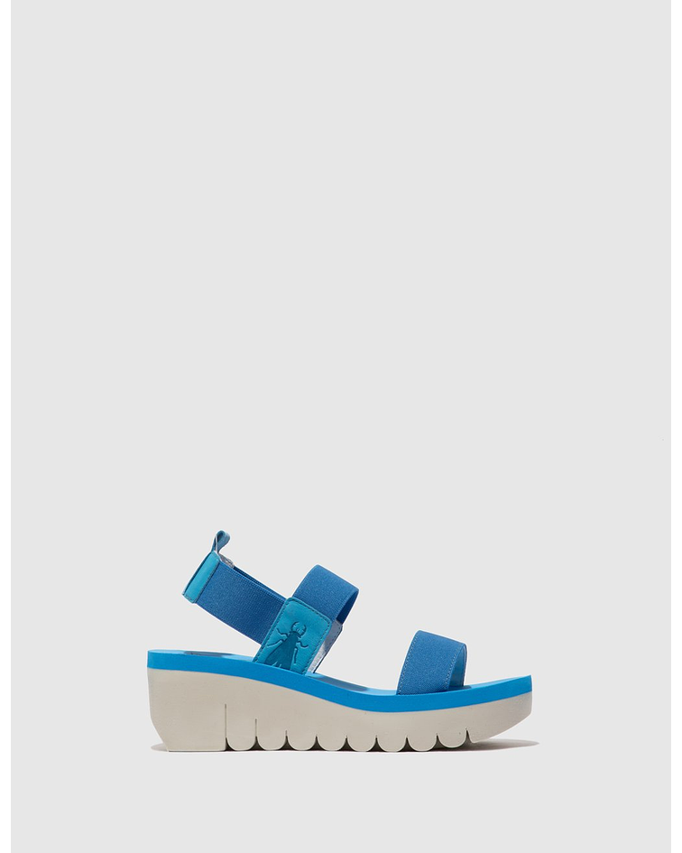 Sandália de Cunha YACI Azul - Fly London
